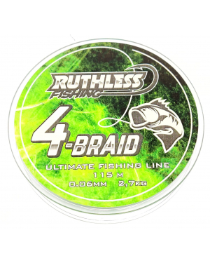 Ruthless 4-Braid kuitusiima 115m